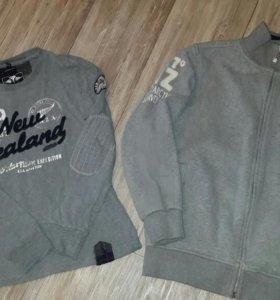 Стильные кофта с футболкой и пальто Nz