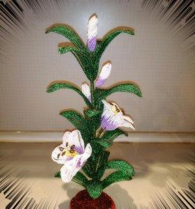 Цветы, деревья, букеты из бисера