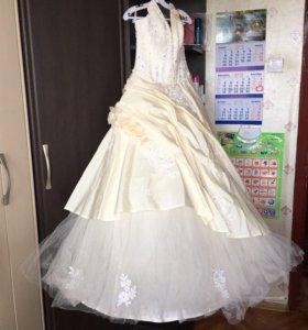 Свадебное платье с розами, 44 размер, рост 170 💍