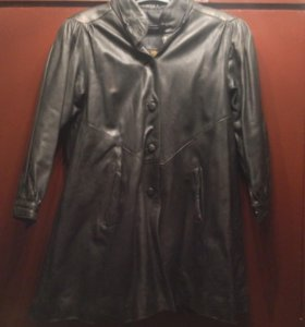 Кожаное пальто/плащ