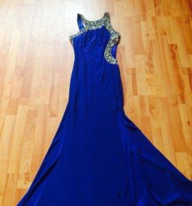 Вечернее платье шикарное ! Клатч синий в подарок