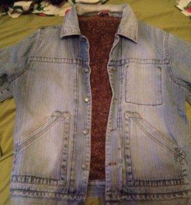 Джинсовая куртка с мехом Cottonfield б/у L