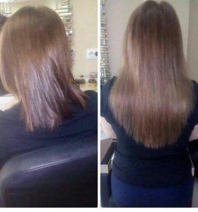 Профессиональное микрокапсульное наращивание волос