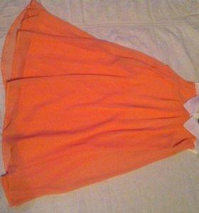 Шифоновое платье на подкладе