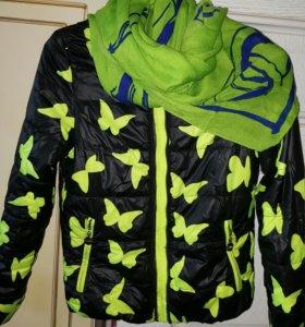 Куртка демисезонная на девочку подростка