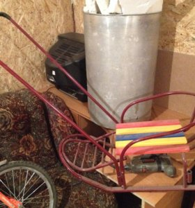 Санки и велосипед