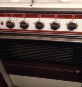 Газ плита и духовка 4 комфорки
