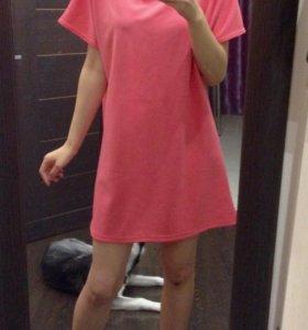 Платье розовый коралл