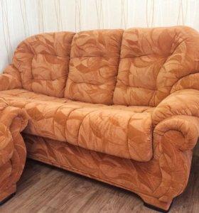 Мягкая мебель (диван+2кресла)