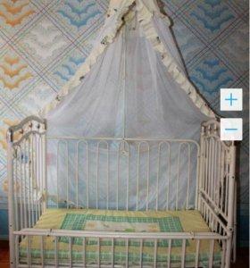 Детская кроватка +люлька