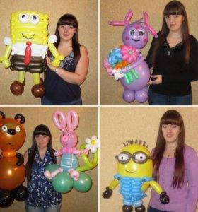 Фигуры из шаров на день рожденья