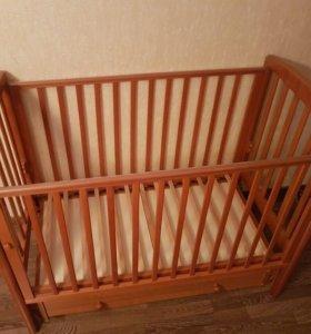 Детская кроватка Gandylyan + матрас Babysleep