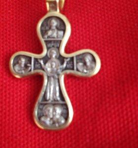 Продам мужской крест серебряный