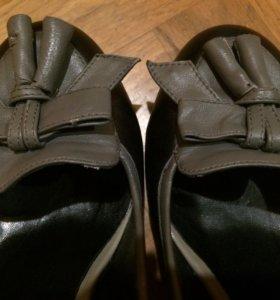 Кожаные туфли 37 р-р