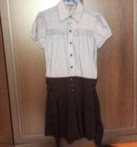 Костюм  слитный( шорты и блузка)