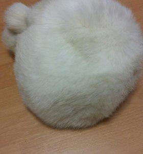 Зимняя шапка, песец