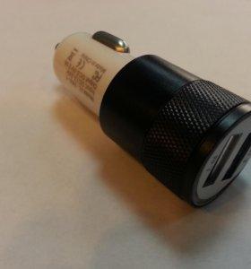 Зарядное от прикуривателя на 2 usb