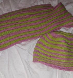 Шапка с шарфом adidas