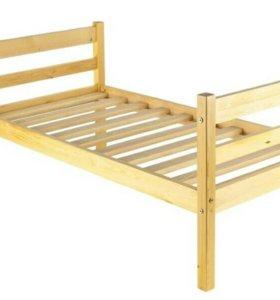 Кровать из массива сосны КД2