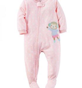 Carters пижама флисовая Monkey