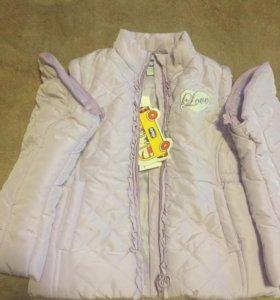 Куртка-жилетка осенняя chicco новая