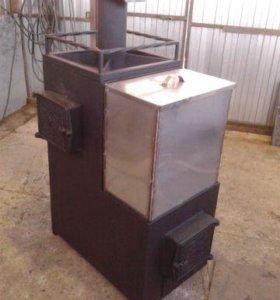 печь, котел для бани и отопления дома