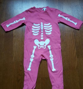 Пижама скелетон