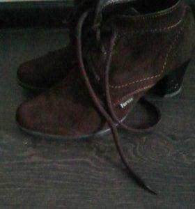 Ботинки женские замша