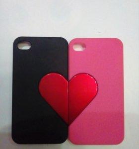 Чехлы для влюблённых на iPhone 4-4s
