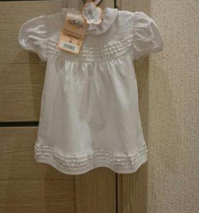 Новое платье на девочку 68 размер