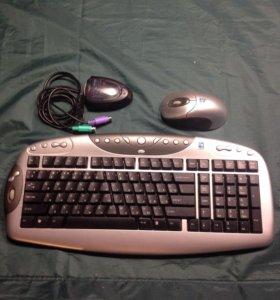 Беспроводная клавиатура и мышь A4-Tech