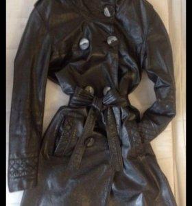 Плащ кожаный (тренч, пальто, куртка)