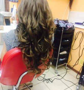 Наращивание волос, окрашивание и тд