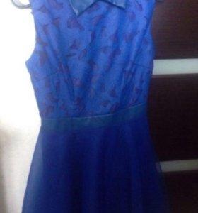 Платье синее 42-44