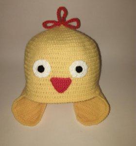 Вязаная шапка Цыпленок на заказ