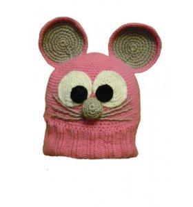 Вязаная шапка Мышка на заказ