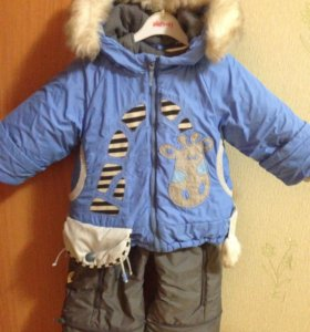 Зимний костюм д/мальчика р.80