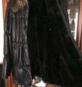 Мужская зимняя дубленка 52 размер