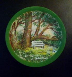 Тарелка декоративная Пушкинские Горы