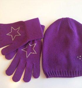 Комплект шапка+перчатки