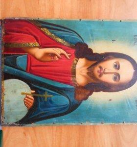 Икона 19 век Господь Вседержитель.