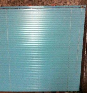 Продам жалюзи горизонтальные цвет голубой 1x1 с
