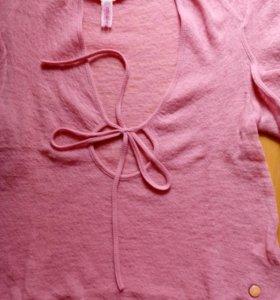 Кофта fornarina розовая 42 шерсть