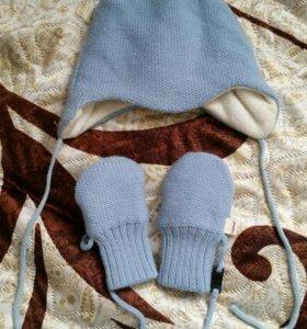 Шапочка и варежки без пальца Reima