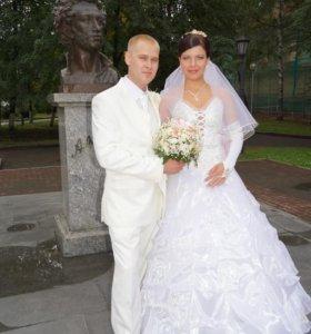 Шикарное!Свадебное платье!