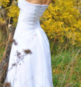 Полусвадебное белое платье