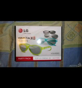 3D Очки поляризационные LG, Toshiba, Philips, Pana