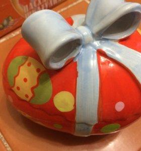 Пасха Новая большая шкатулка Яйцо подарок