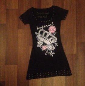 Чёрное платье-туника