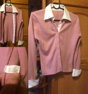 Шерстяная блузка р. 44